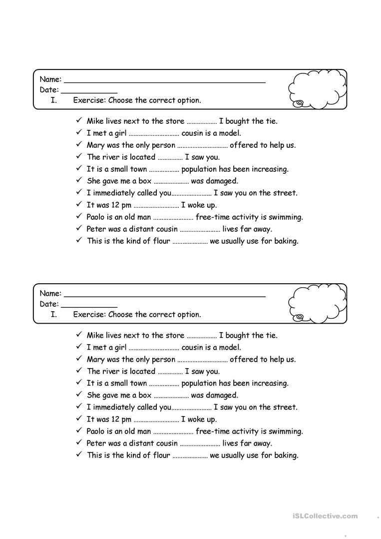 Relative Pronouns Worksheet Grade 4 Relative Pronouns Quiz