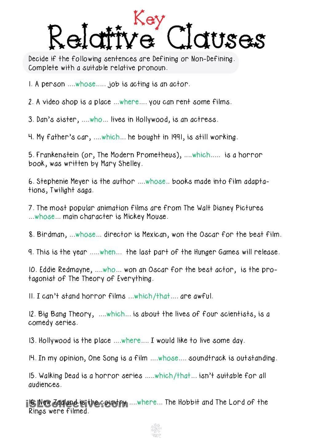 Relative Pronouns Worksheet Grade 4 Relative Pronouns Worksheet 4th Grade Pronoun Worksheets 4th