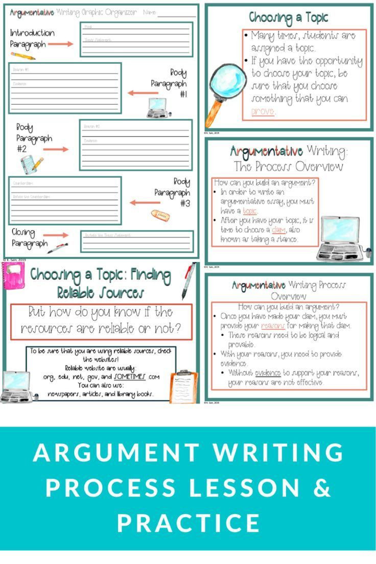 Reliable sources Worksheet Middle School Middle School Argument Writing Lesson In 2020