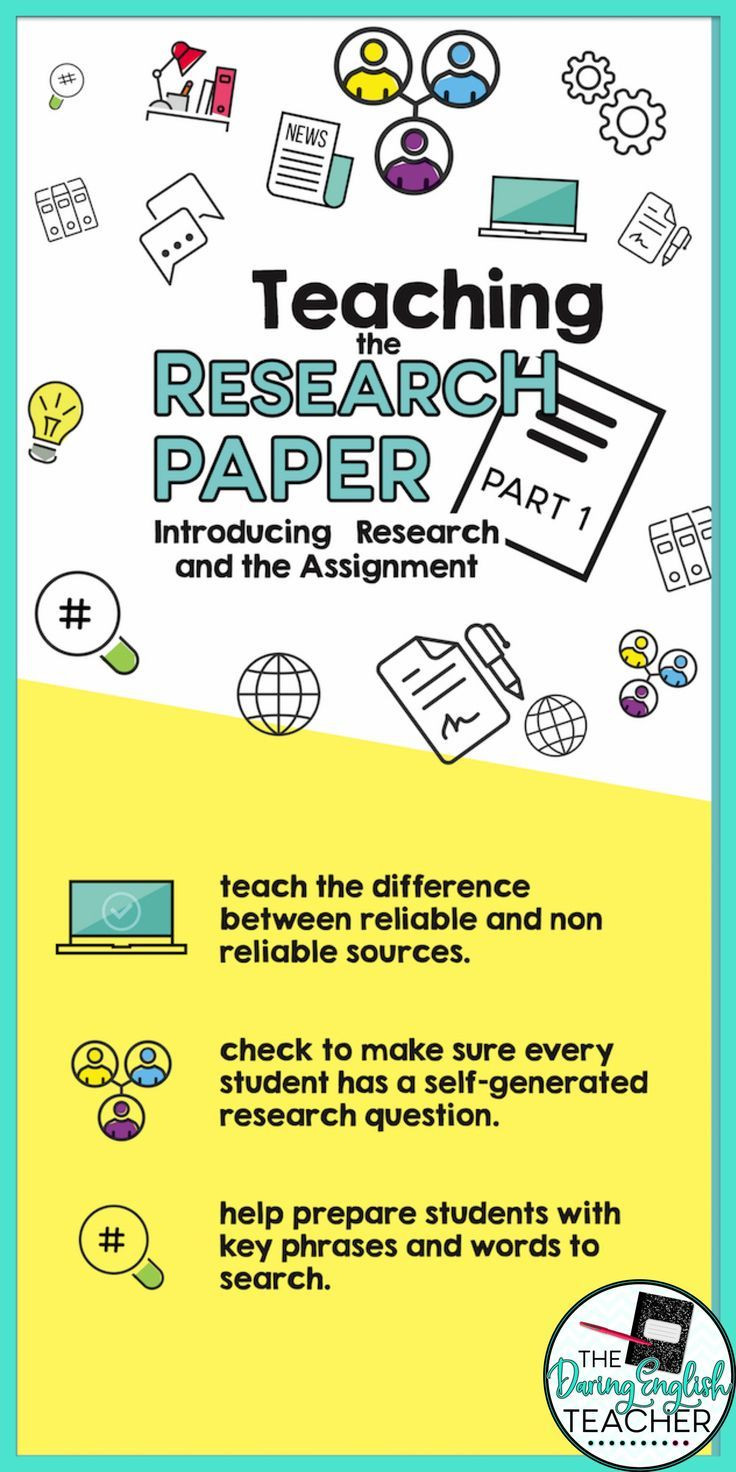 Reliable sources Worksheet Middle School Teaching the Research Paper Part 1 Introducing the Research