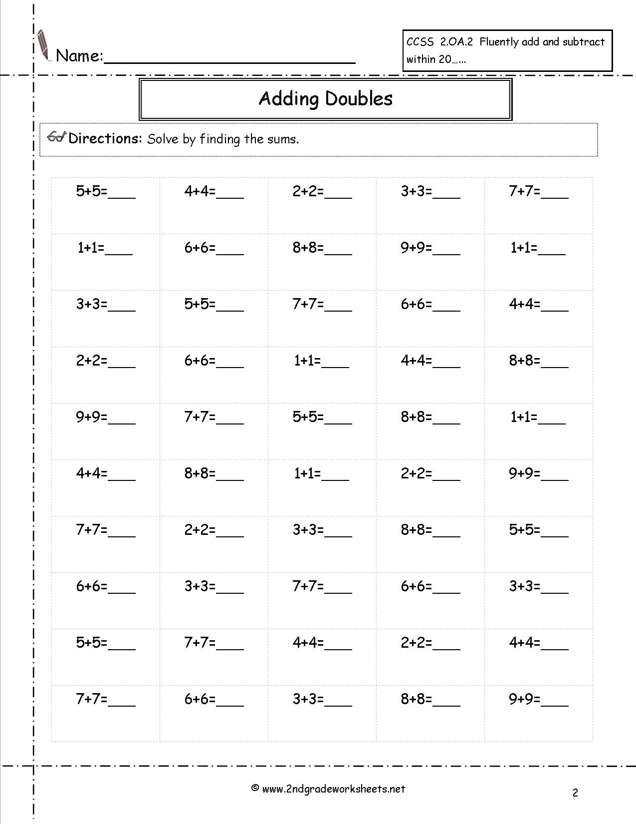 Repeated Addition Worksheets 2nd Grade Math Worksheet Remarkableion Worksheets Grade Picture
