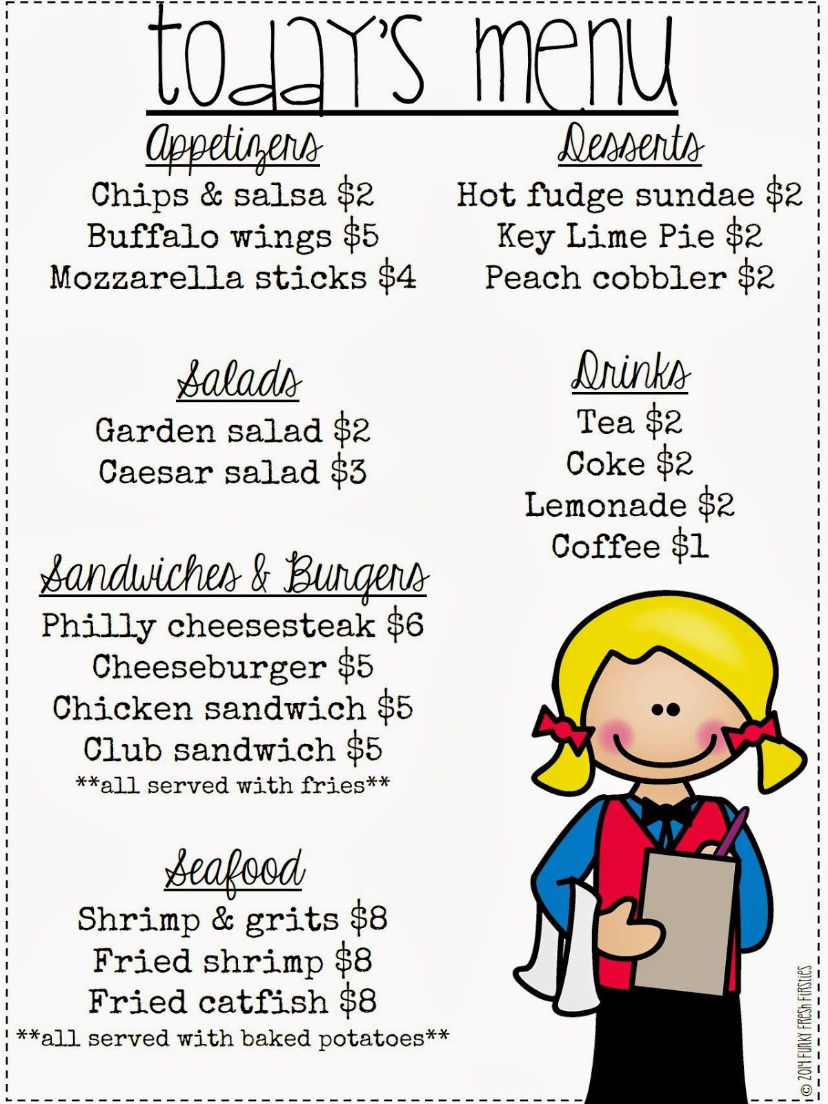 Restaurant Math Worksheets Restaurant Math Serving Up the Mon Core