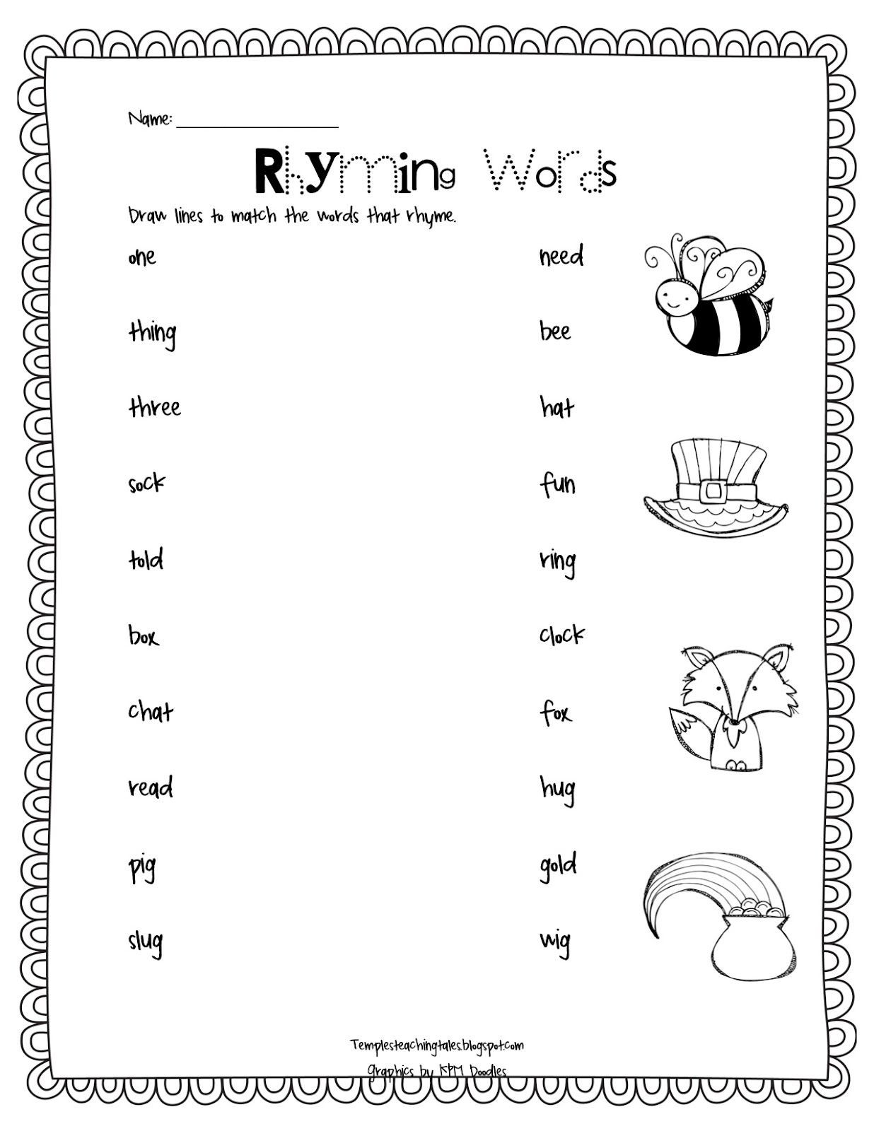 Rhyming Worksheets 1st Grade the End Of Another Chapter