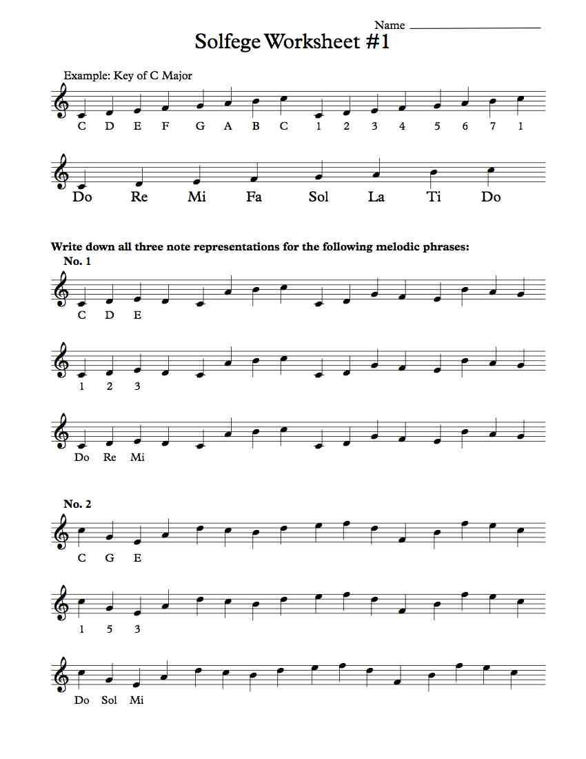 Rhythm Worksheets for Middle School solfege Worksheet 1 Music Worksheets