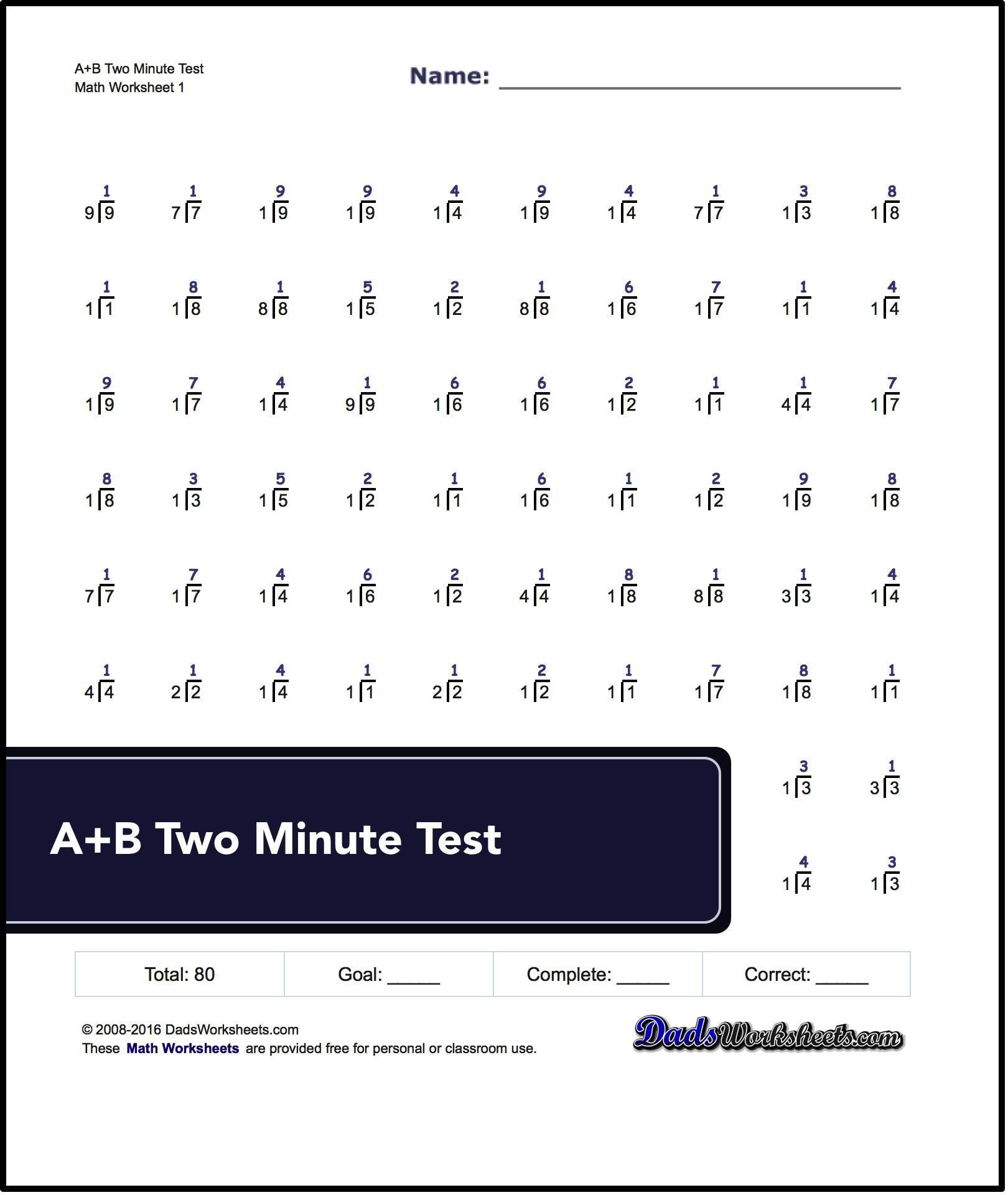 Rocket Math Division Worksheets 80 Problem Division Worksheets Similar to Rocketmath Tests