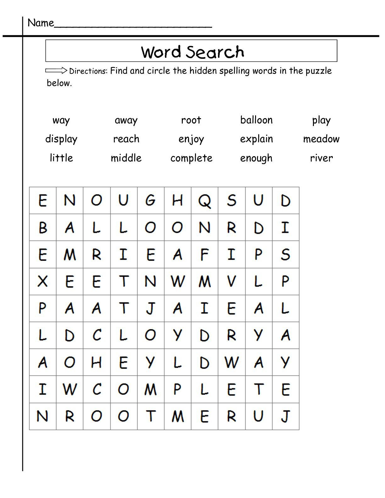 Root Word Worksheets 2nd Grade 2nd Grade Word Search Best Coloring Pages for Kids