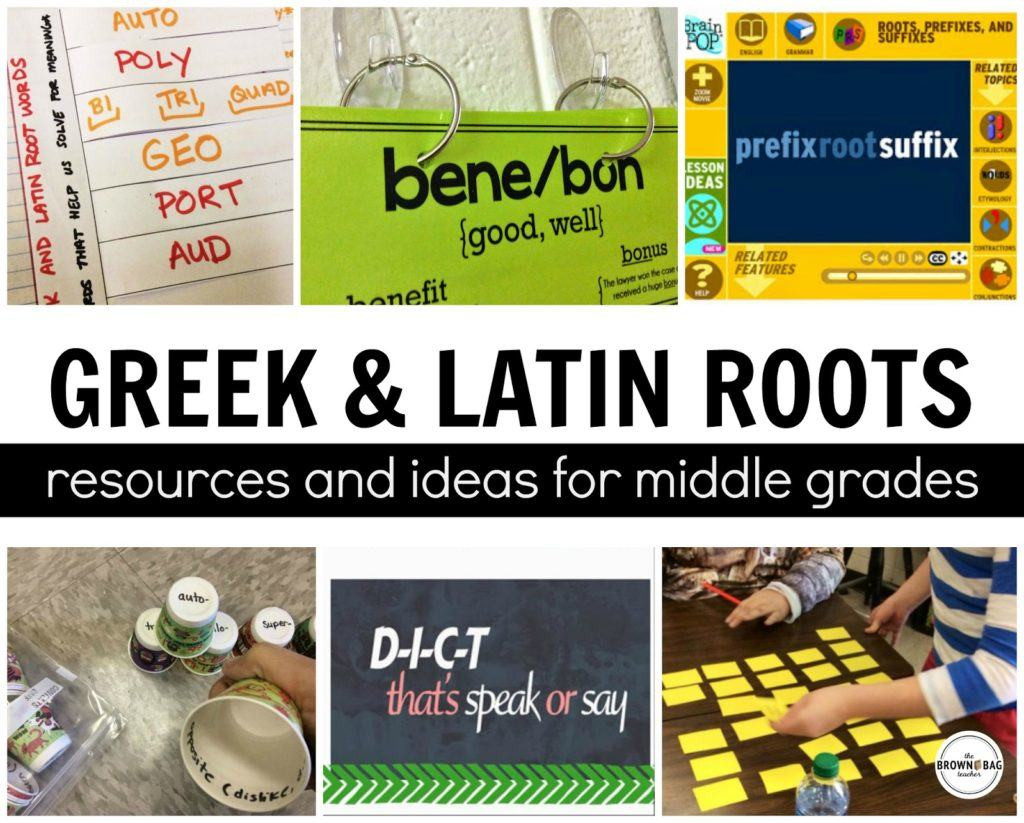 Root Word Worksheets Middle School Greek and Latin Roots the Brown Bag Teacher
