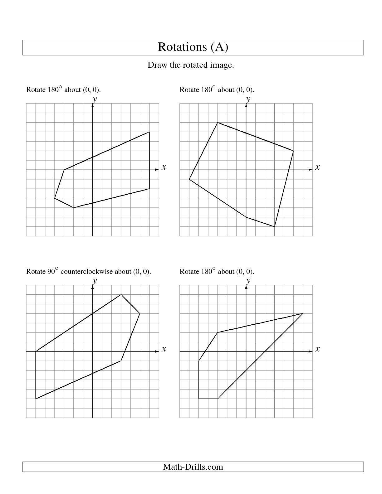 Rotations Worksheet 8th Grade Pin On Grade Worksheets & Sample Printables