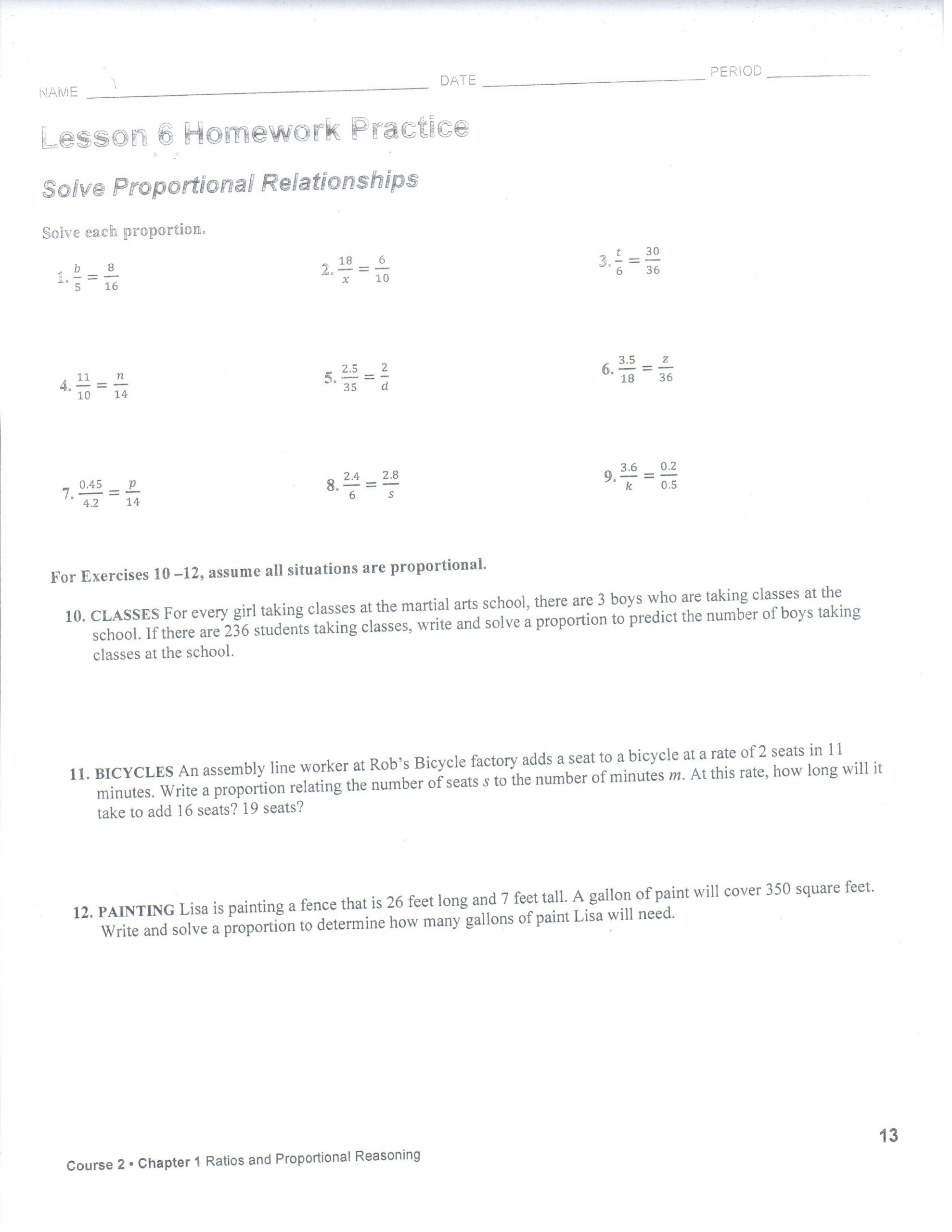 Sales Tax Worksheet 7th Grade 1 9 Lesson 6 Homework Practice Image by Coralporche9g