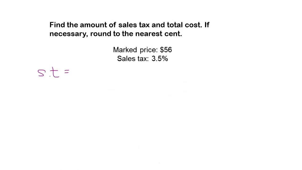 Sales Tax Worksheet 7th Grade Math Help
