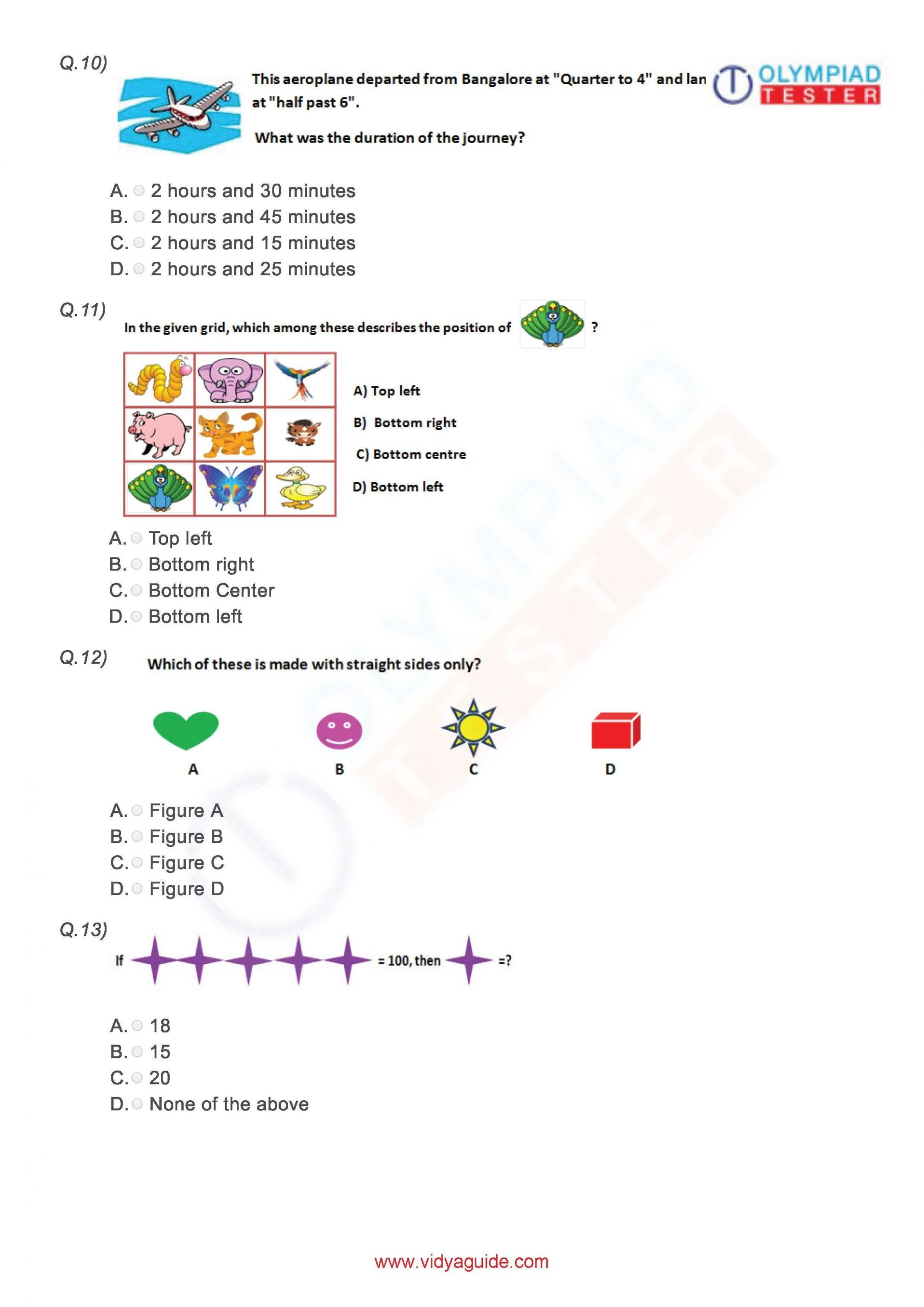 Download these printable Grade 3 Mathematics worksheets or