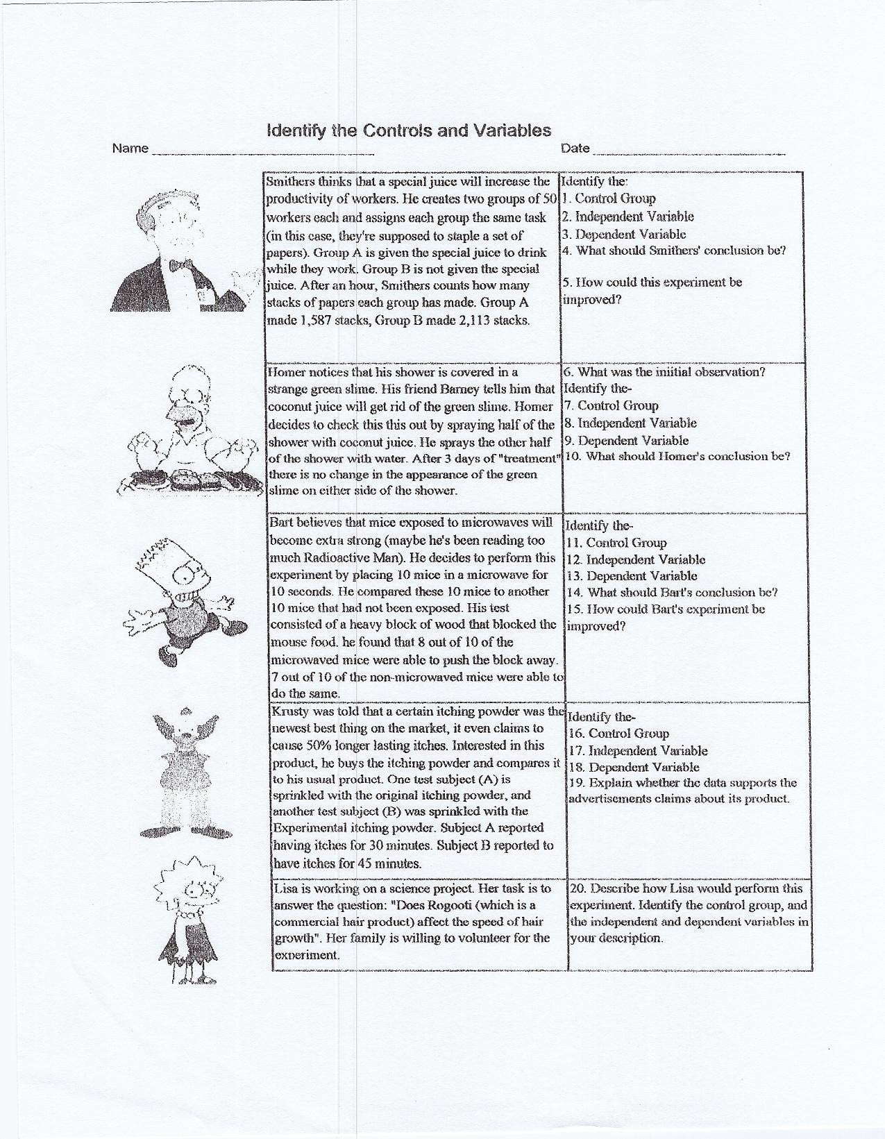 Scientific Method Worksheets High School High School Scientific Method Worksheet