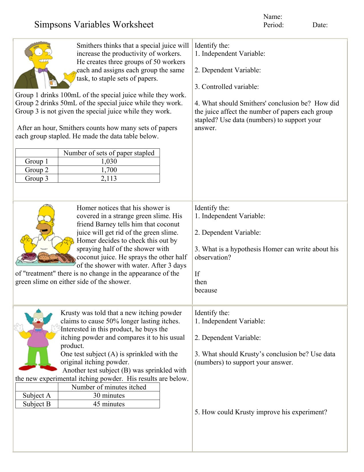 Scientific Method Worksheets High School Scientific Method Worksheet High School
