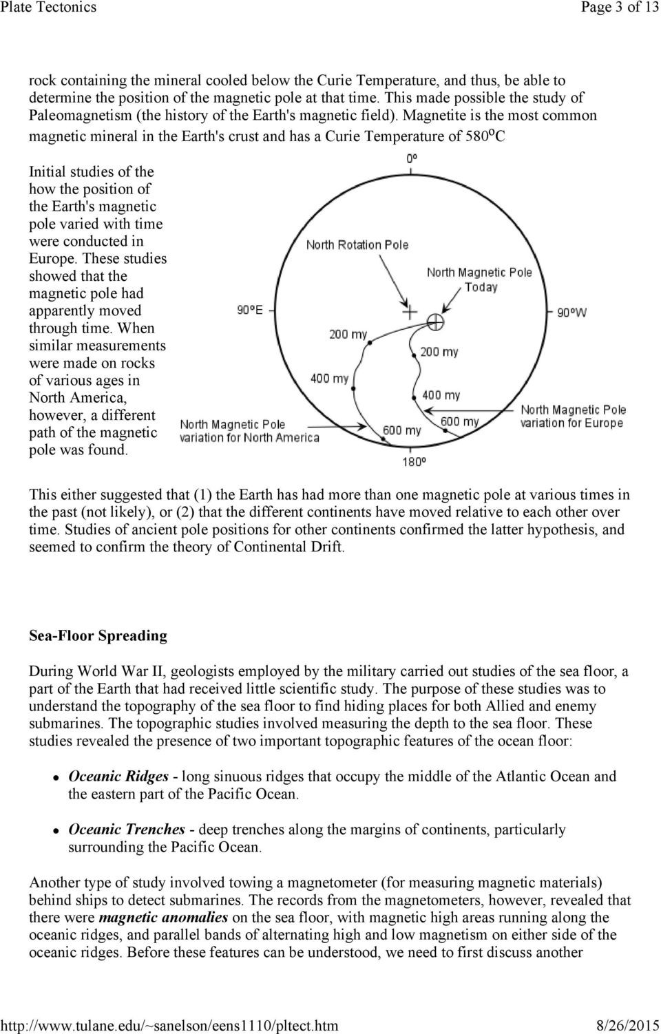 Sea Floor Spreading Worksheet Continental Drift Sea Floor Spreading and Plate Tectonics