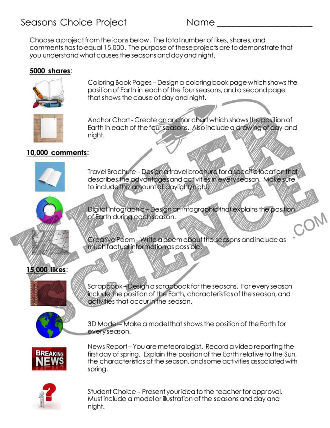 Seasons Worksheet Middle School Seasons Lesson Plan A Plete Science Lesson Using the 5e