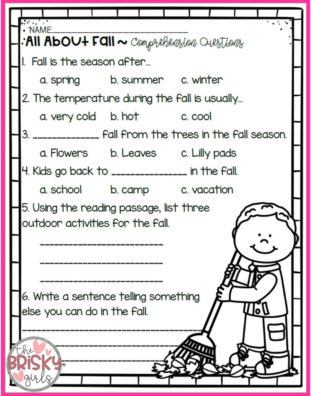 Seasons Worksheet Middle School the Four Seasons Reading Passages Take Home Packet