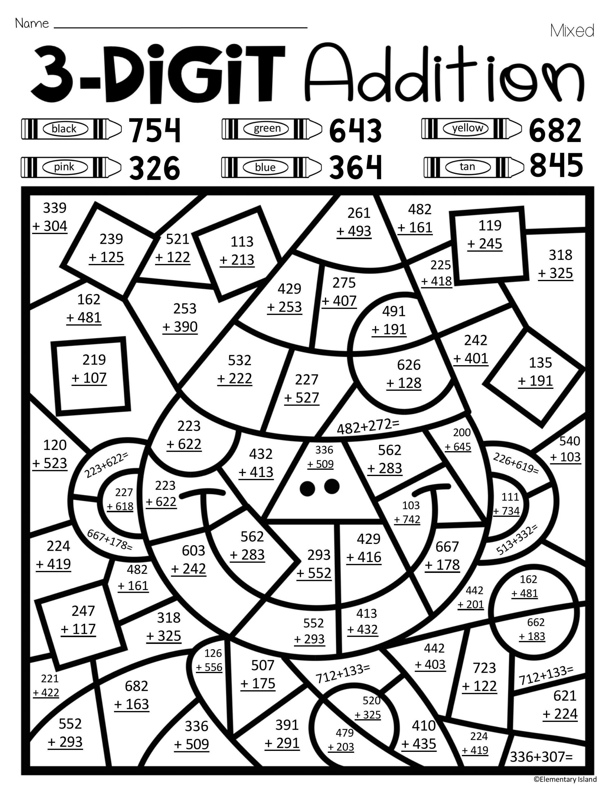 Second Grade Math Coloring Worksheets Math Worksheet Phenomenal Christmas Addition Coloring