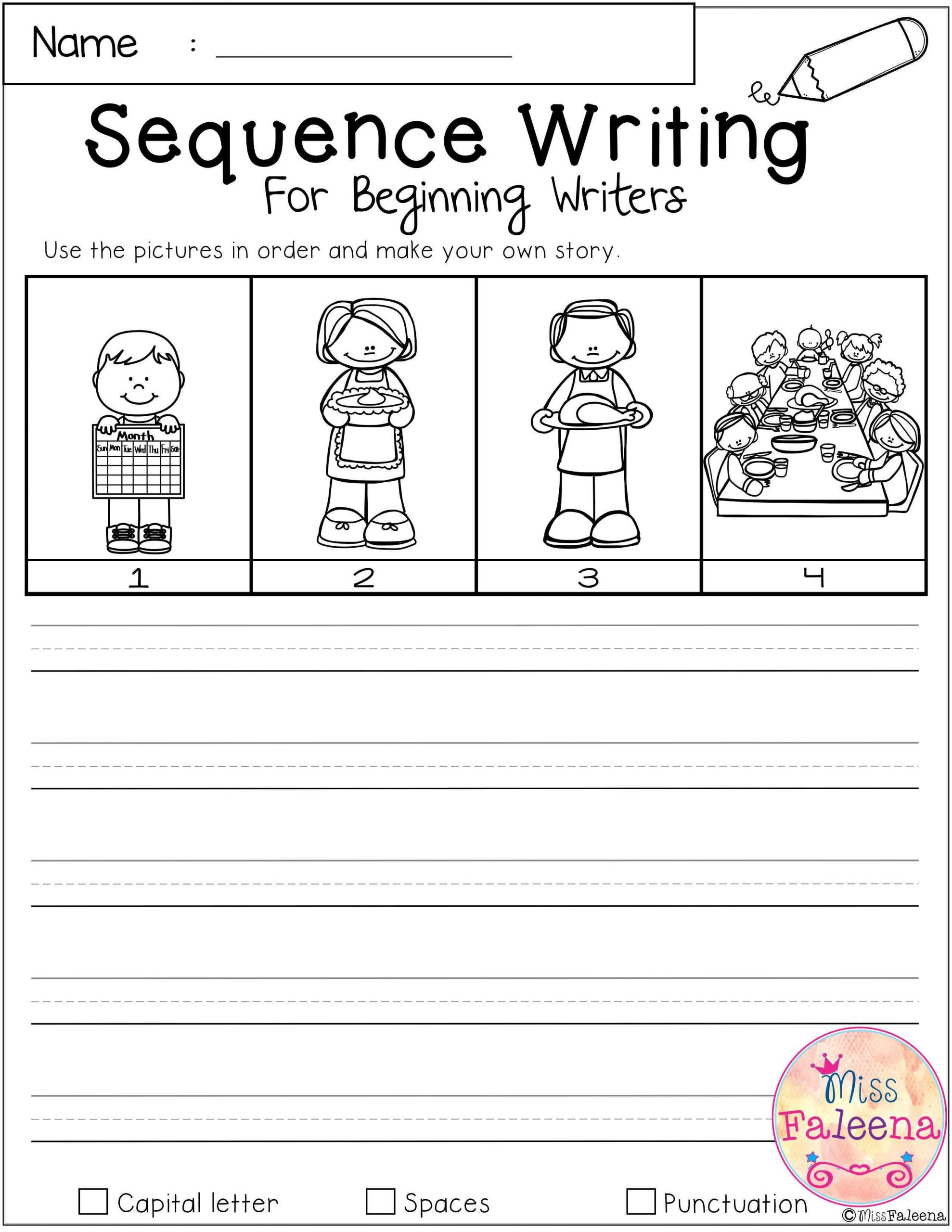 Sequencing Worksheet First Grade 1st Grade Story Writing Worksheets