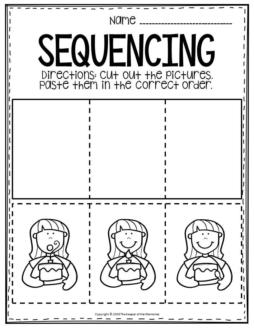 Sequencing Worksheets for 1st Grade Free Printable Sequence Of events Worksheets
