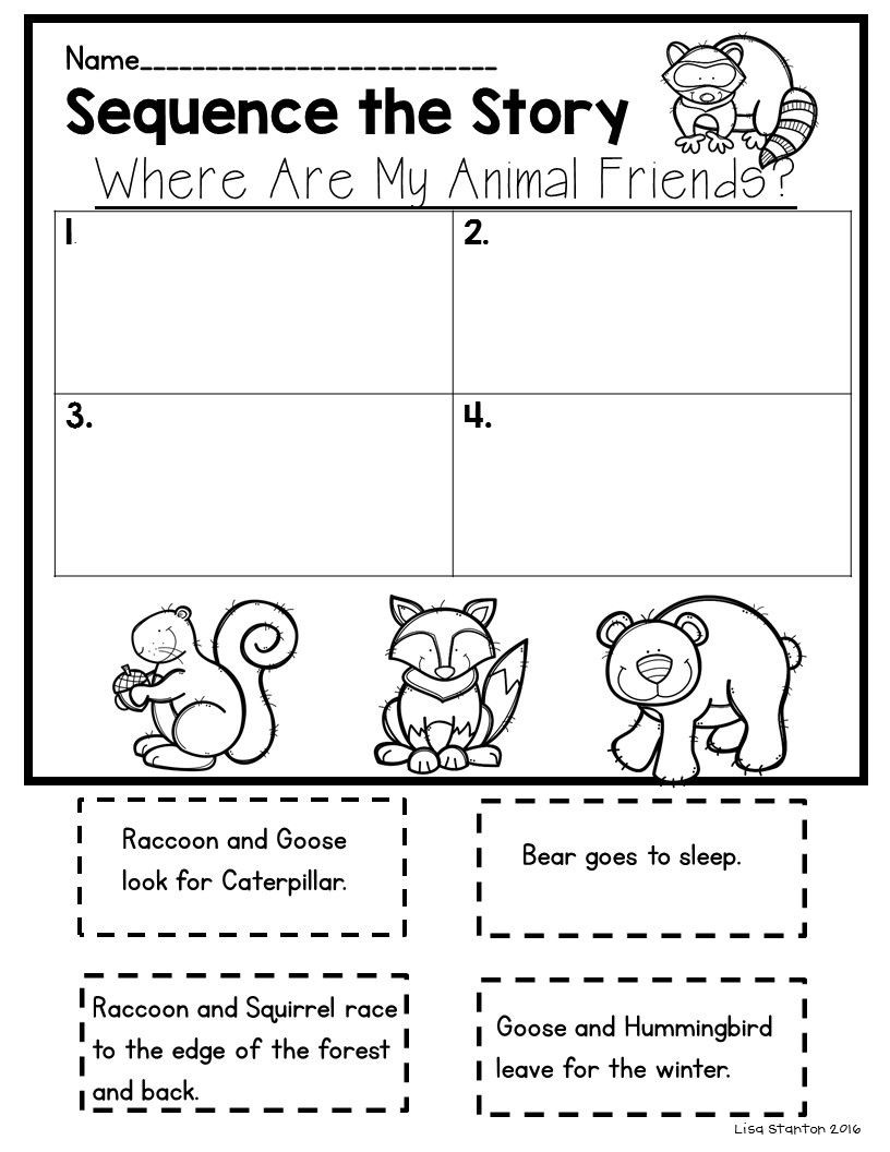 "Sequencing Worksheets for 1st Grade Free Sequencing Activity for the Story ""where are My Animal"