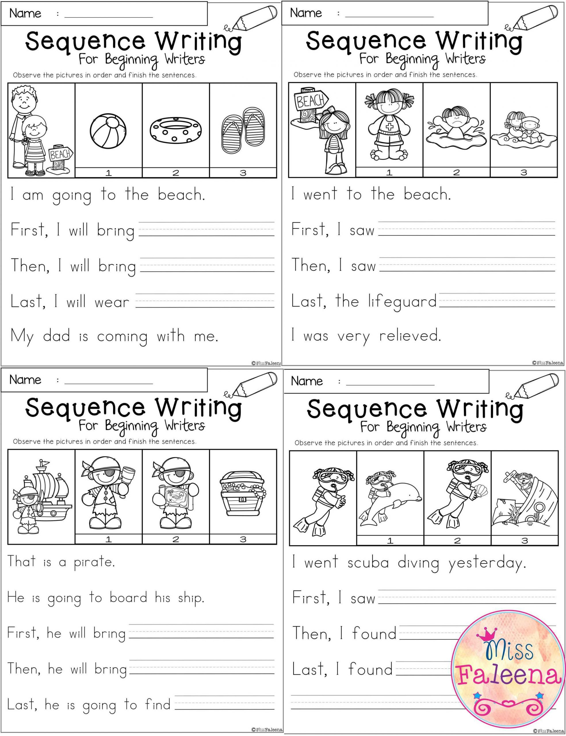 Sequencing Worksheets for 1st Grade Sequence Spring Worksheets