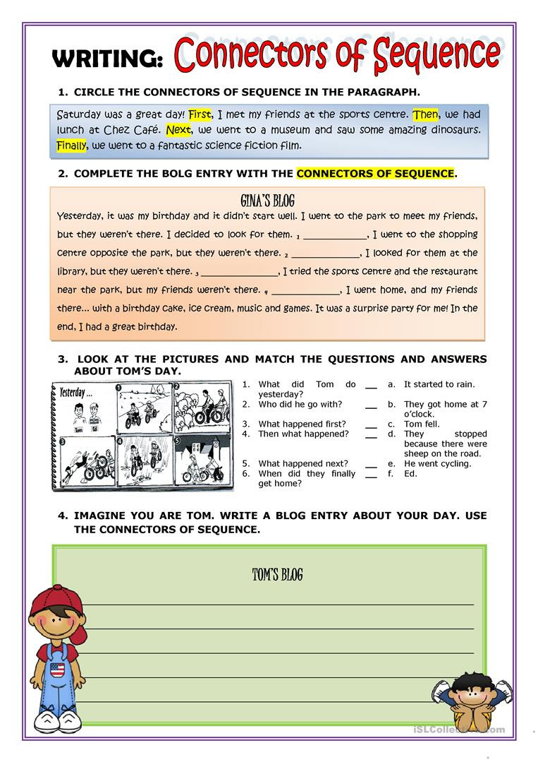 Sequencing Worksheets for Middle School English Esl Sequence Worksheets Most Ed 33 Results