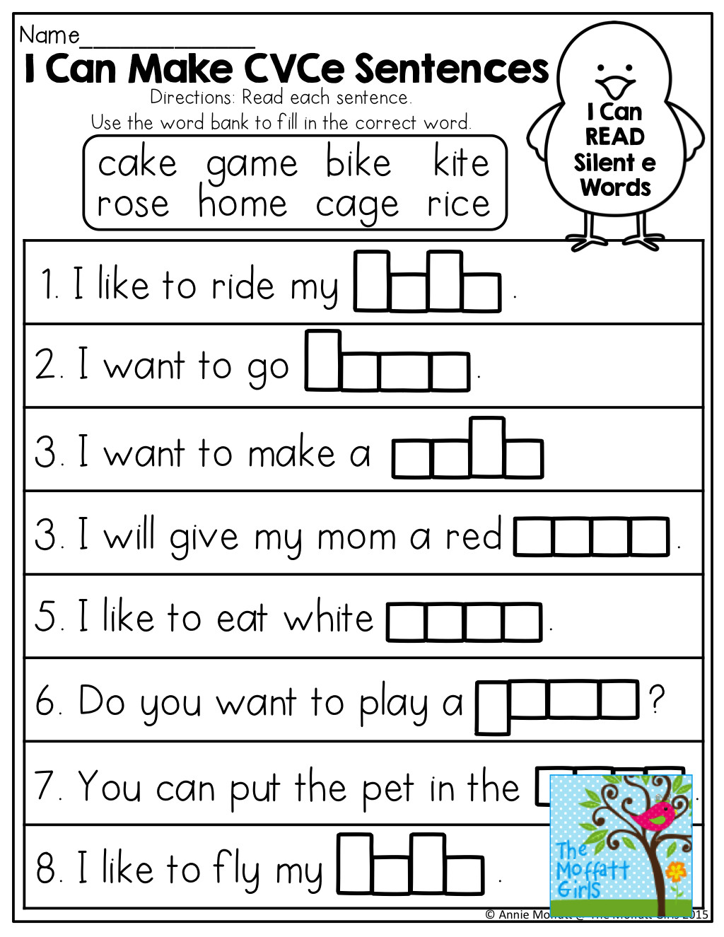 Silent E Worksheets Grade 2 Magic Silent E Worksheet