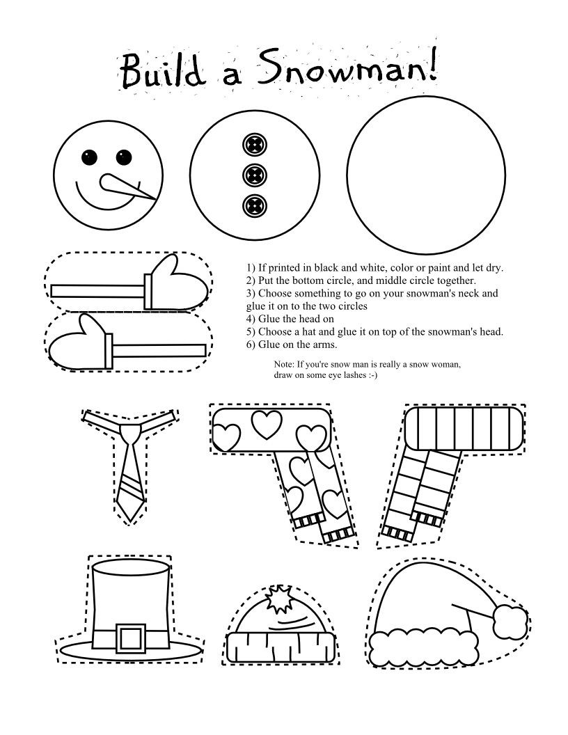 Snowman Math Worksheets Printable Snowman Coloring Page Craft