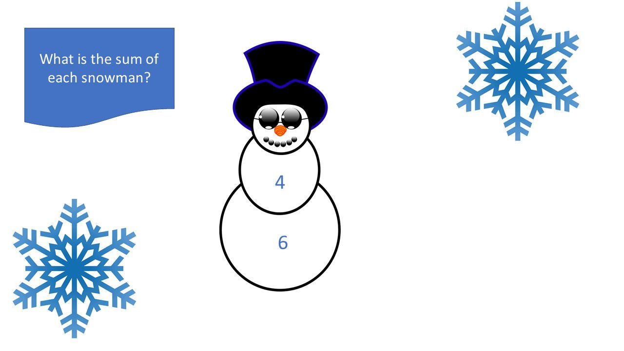 Snowman Math Worksheets Snowman Sums Worksheet
