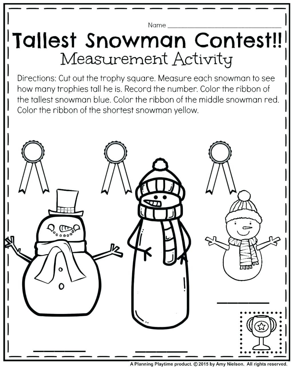 Snowman Math Worksheets Worksheet Board Games for Kindergarten Simple Phonics
