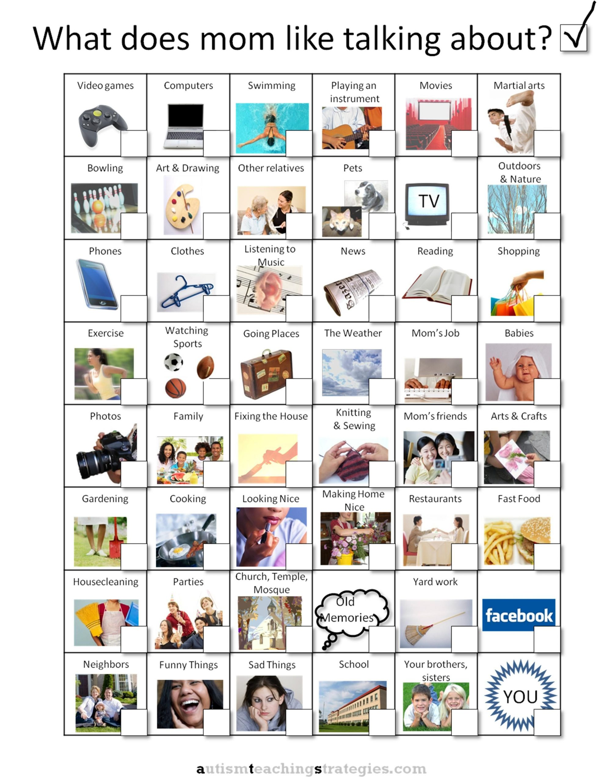 "Social Skills Worksheets for Autism Could Use A Similar Sheet for ""what Did We Do at Care Kindy"