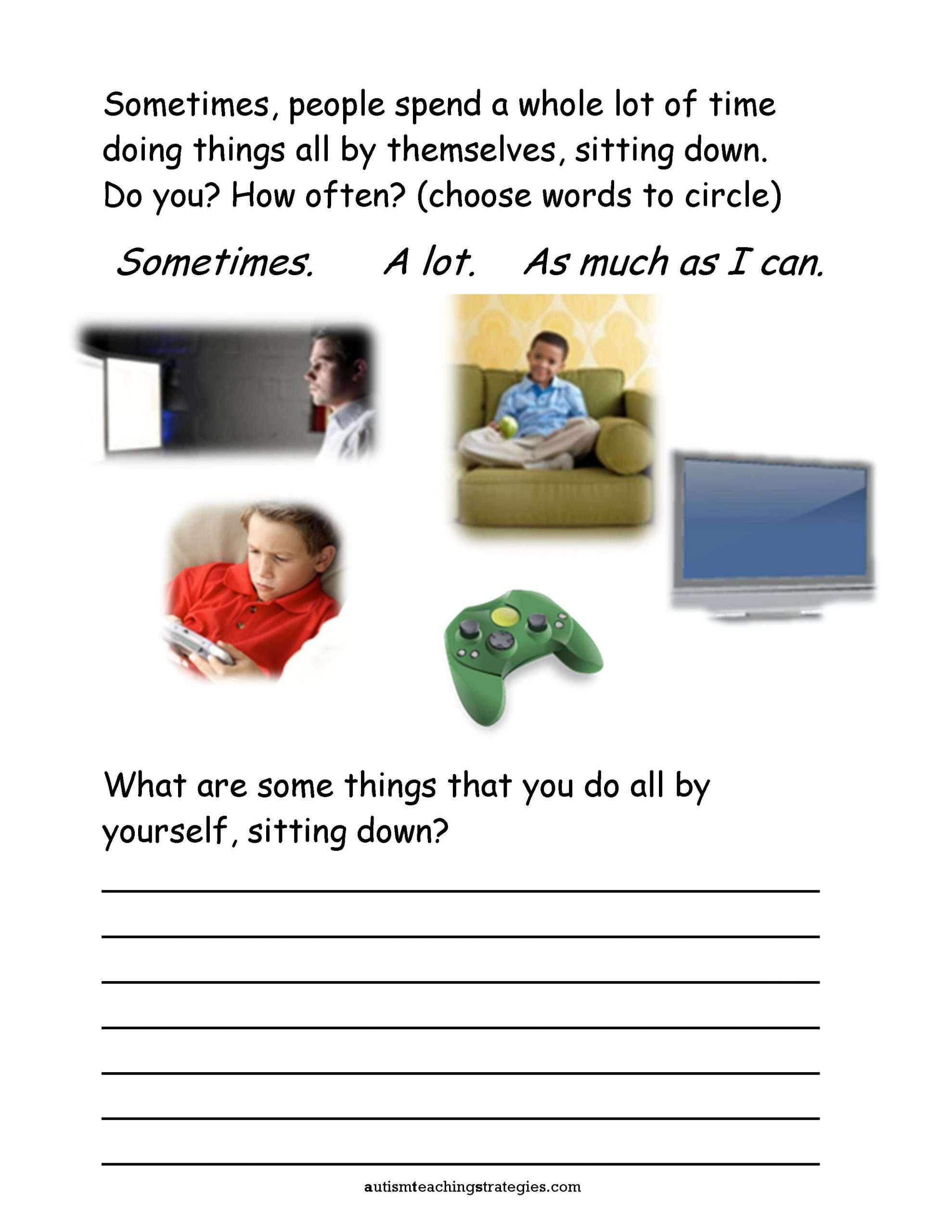 Social Skills Worksheets for Autism Pin On School organization & Planning
