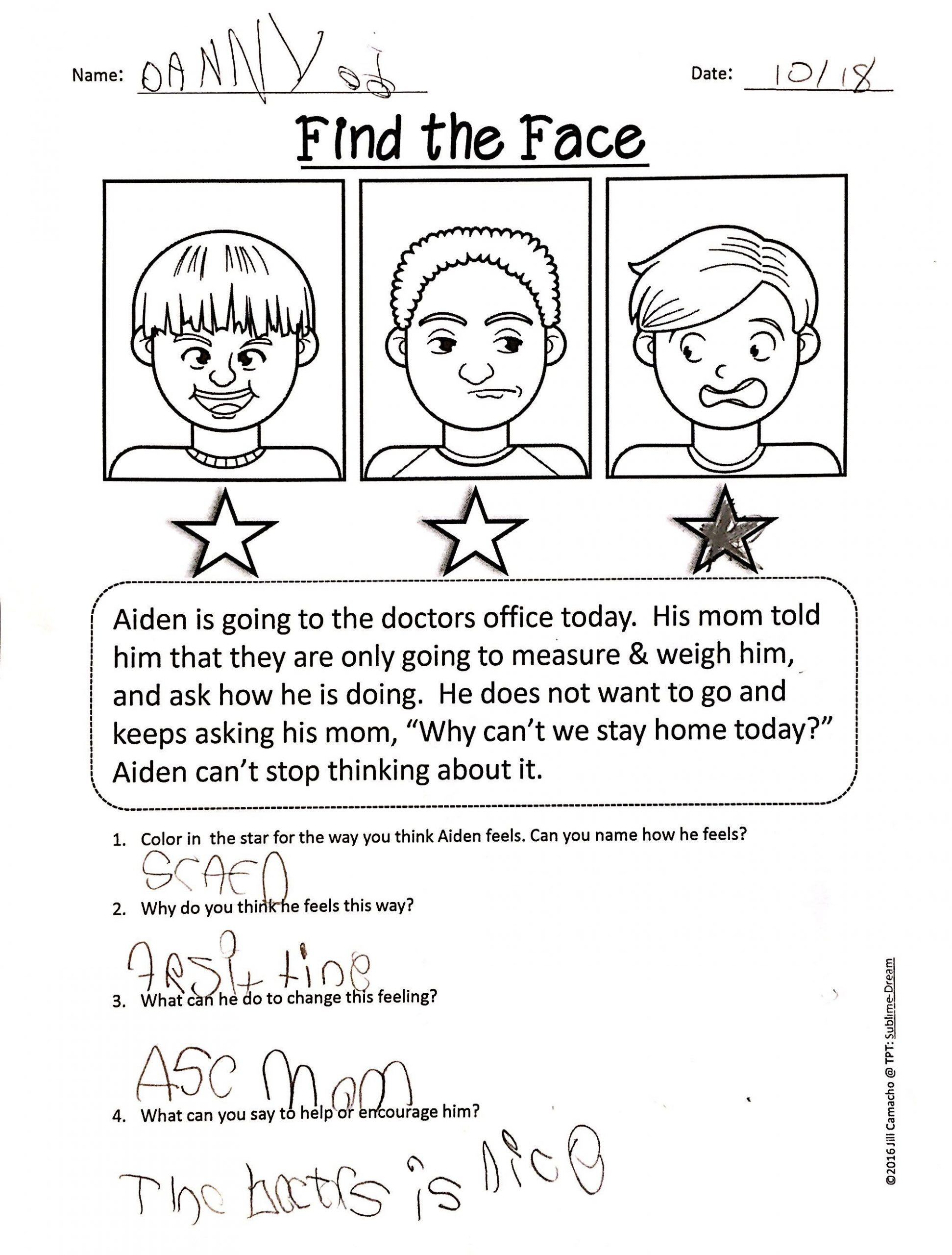 Social Skills Worksheets for Autism Printable Worksheets to Help Your Students Practice