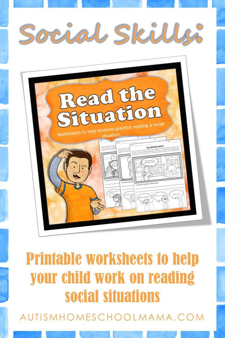 Social Skills Worksheets for Autism Read the Situation social Skills Worksheets with Images