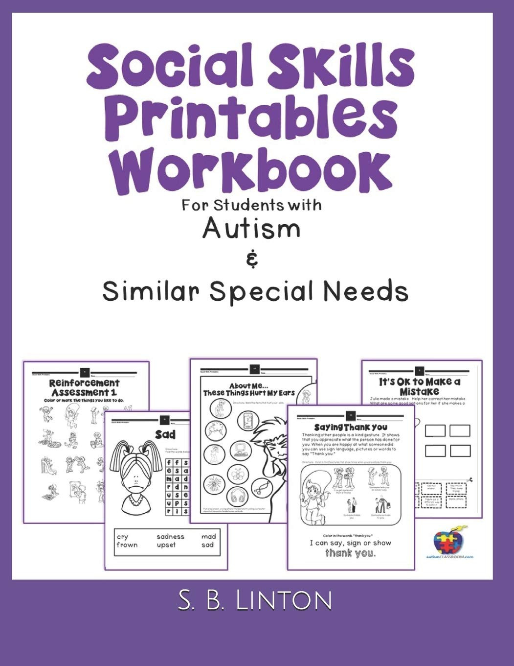 Social Skills Worksheets for Autism social Skills Printables Workbook for Students with Autism
