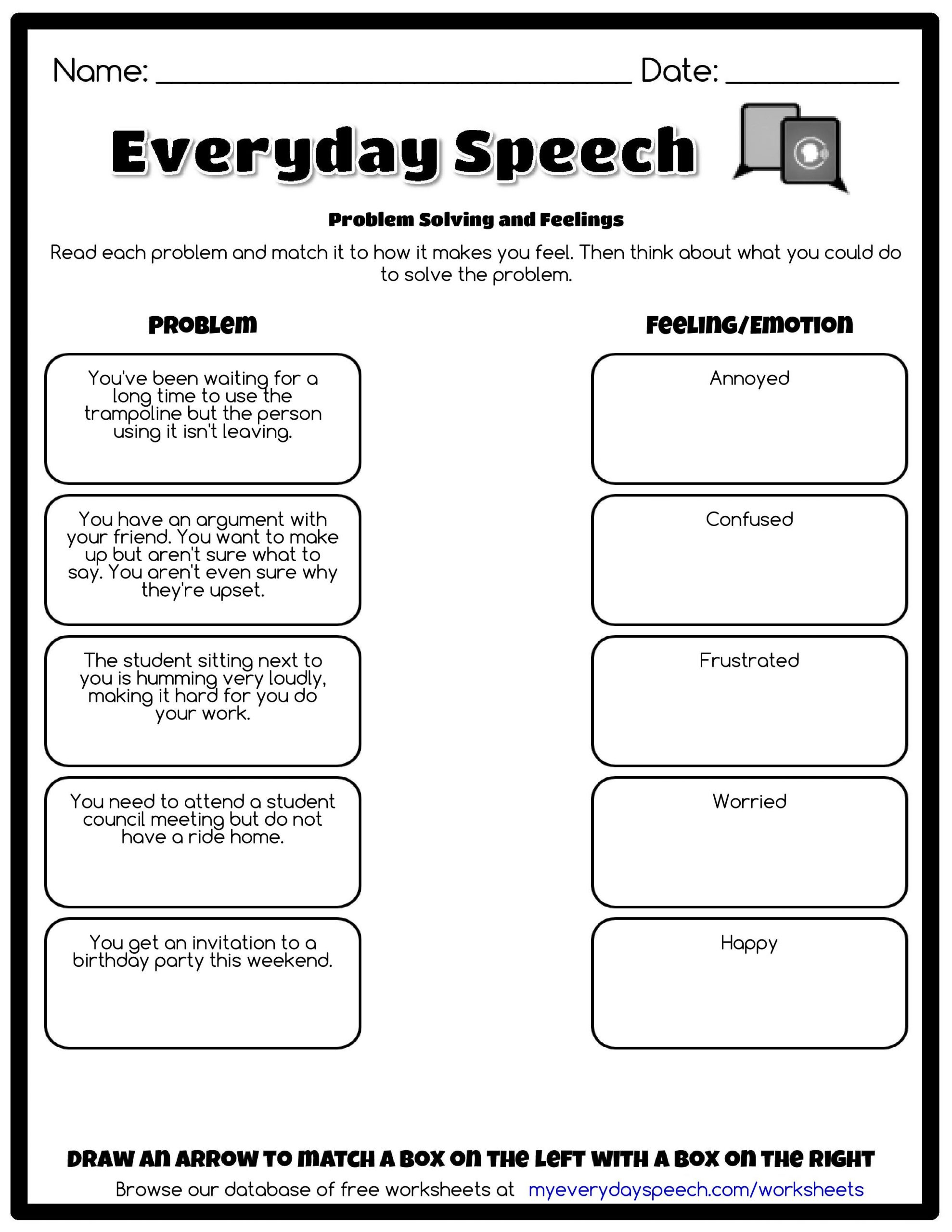 Social Skills Worksheets for Teens Worksheet Creator