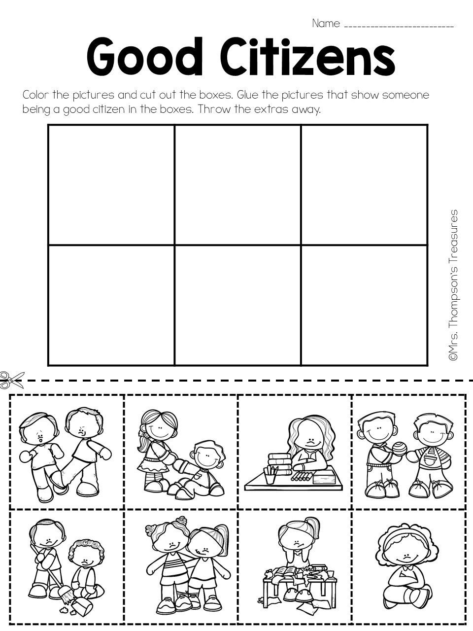 Social Studies Worksheet 1st Grade social Stu S Being A Good Citizen