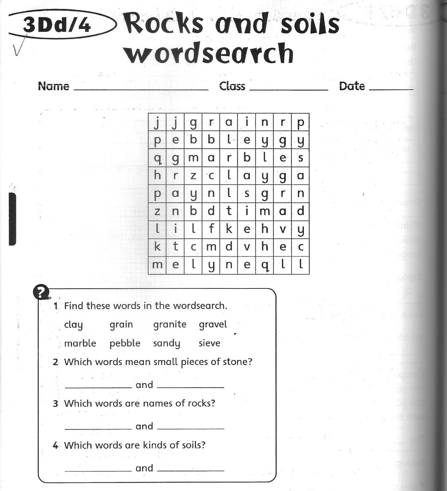 Soil Worksheets 3rd Grade Science Worksheets Grade 3
