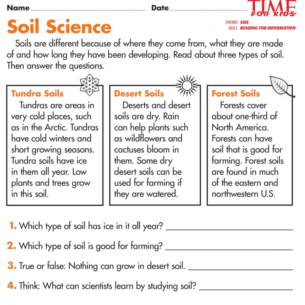 Soil Worksheets 3rd Grade Worksheet First Grade Science Worksheets 1st for Free