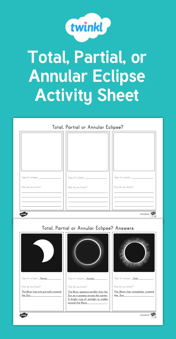 Solar Eclipse Worksheets Middle School A Useful Activity Sheet to Check Students Knowledge Of the