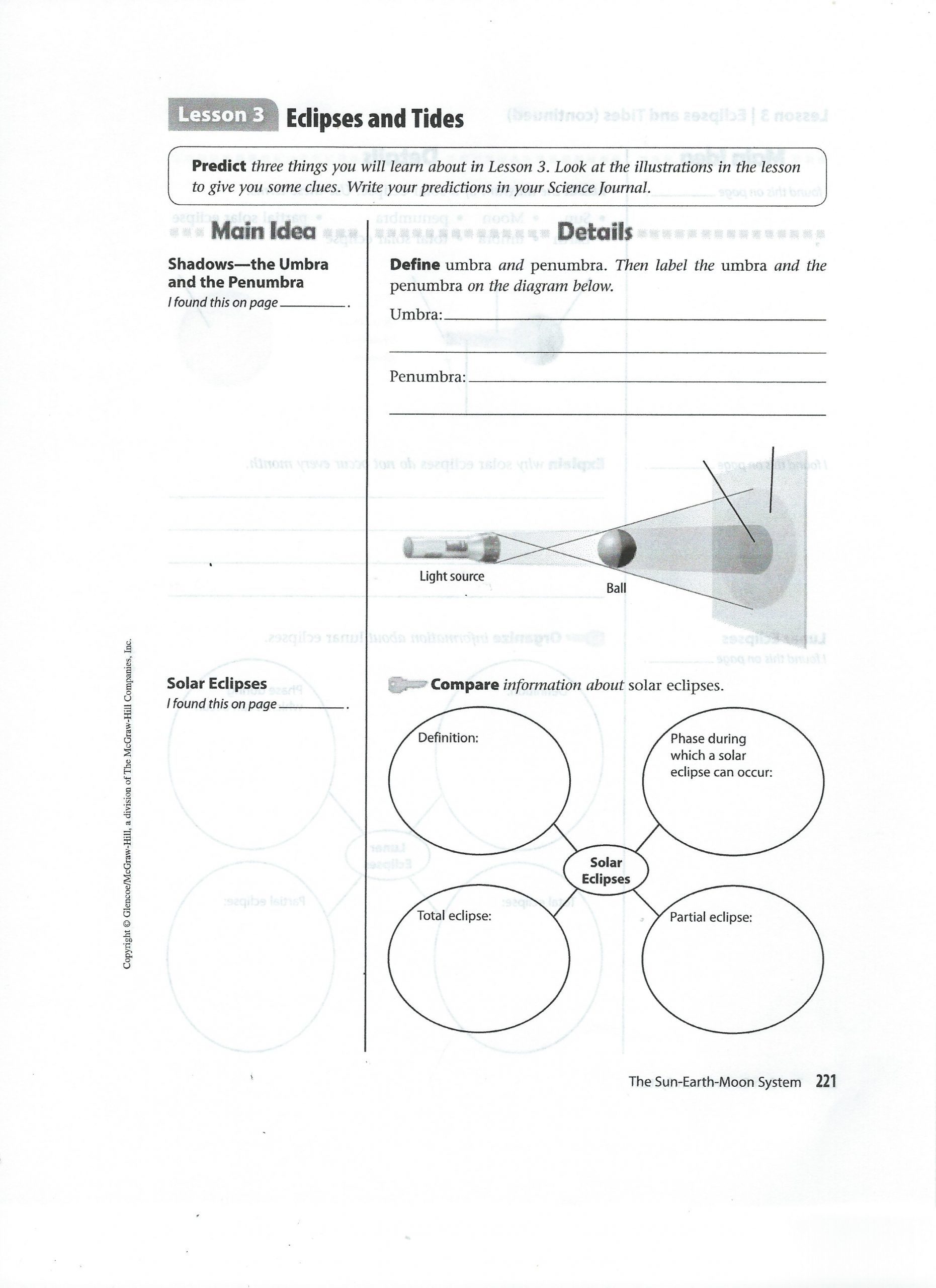 Solar Eclipse Worksheets Middle School Molosky C Line Instruction Week Of May 25th