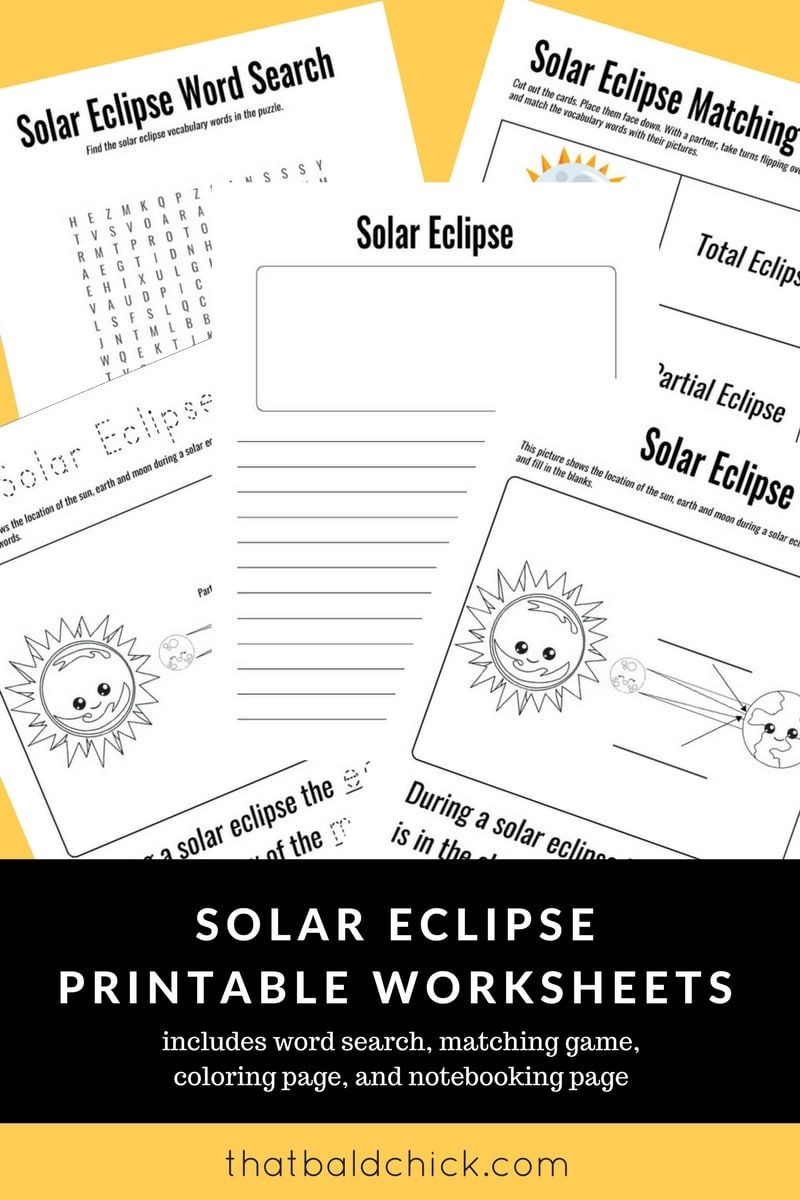 Solar Eclipse Worksheets Middle School Use these solar Eclipse Printable Worksheets to Make the