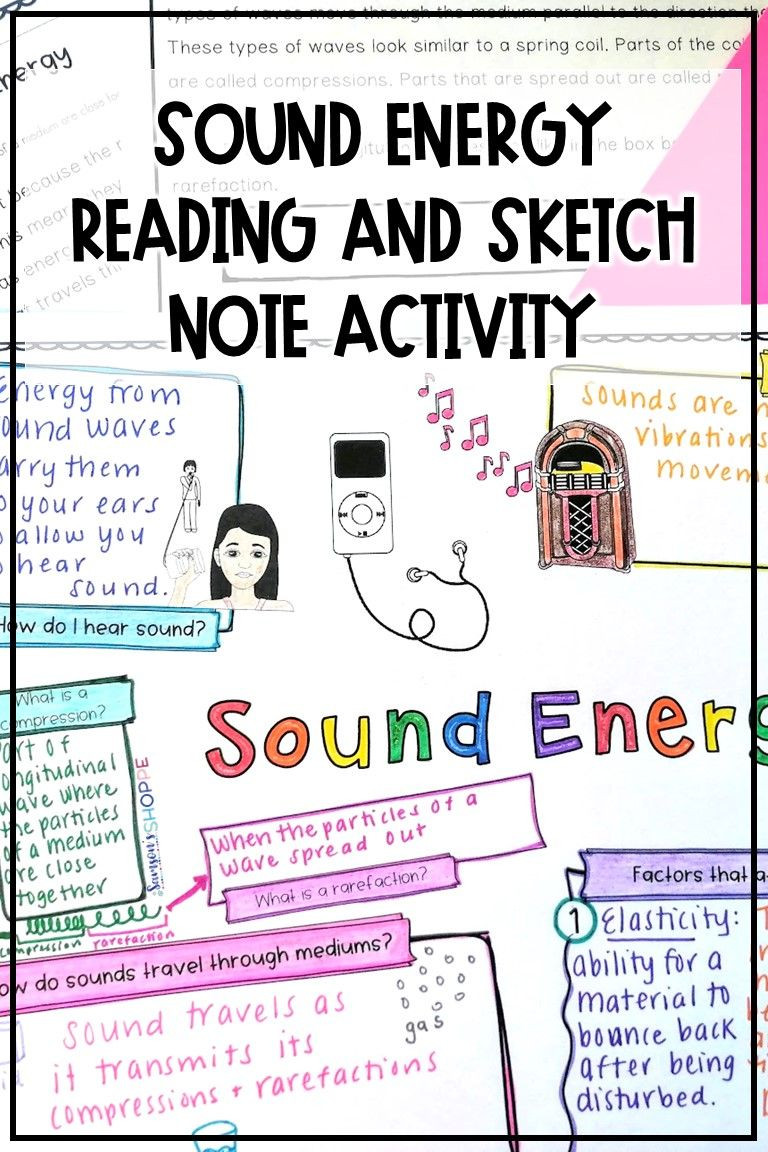 Sound Energy Worksheets 4th Grade sound Energy and Waves Activity