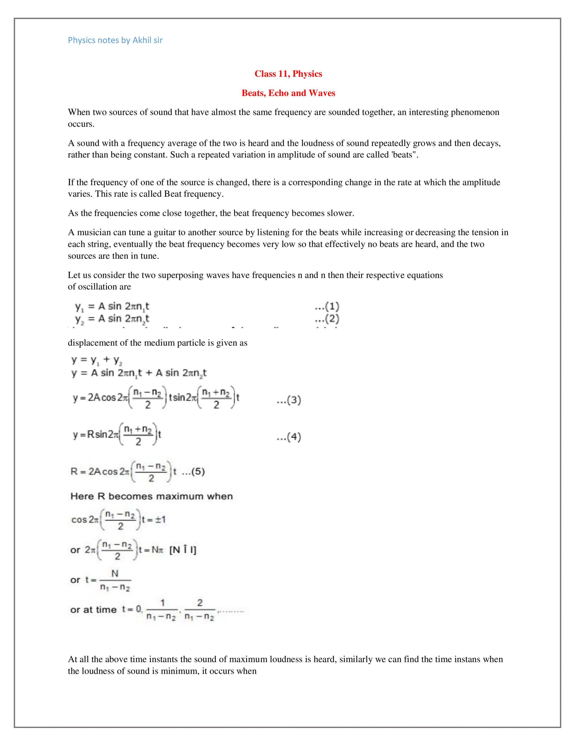 Sound Waves Worksheet Middle School Beat Echo Wave Notes