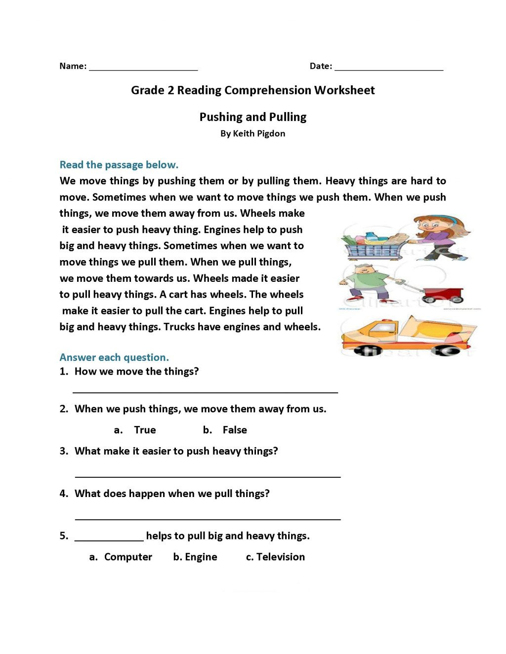 Spanish Reading Comprehension Worksheets Worksheet Reading Sheets for 2nd Grade Picture Ideas