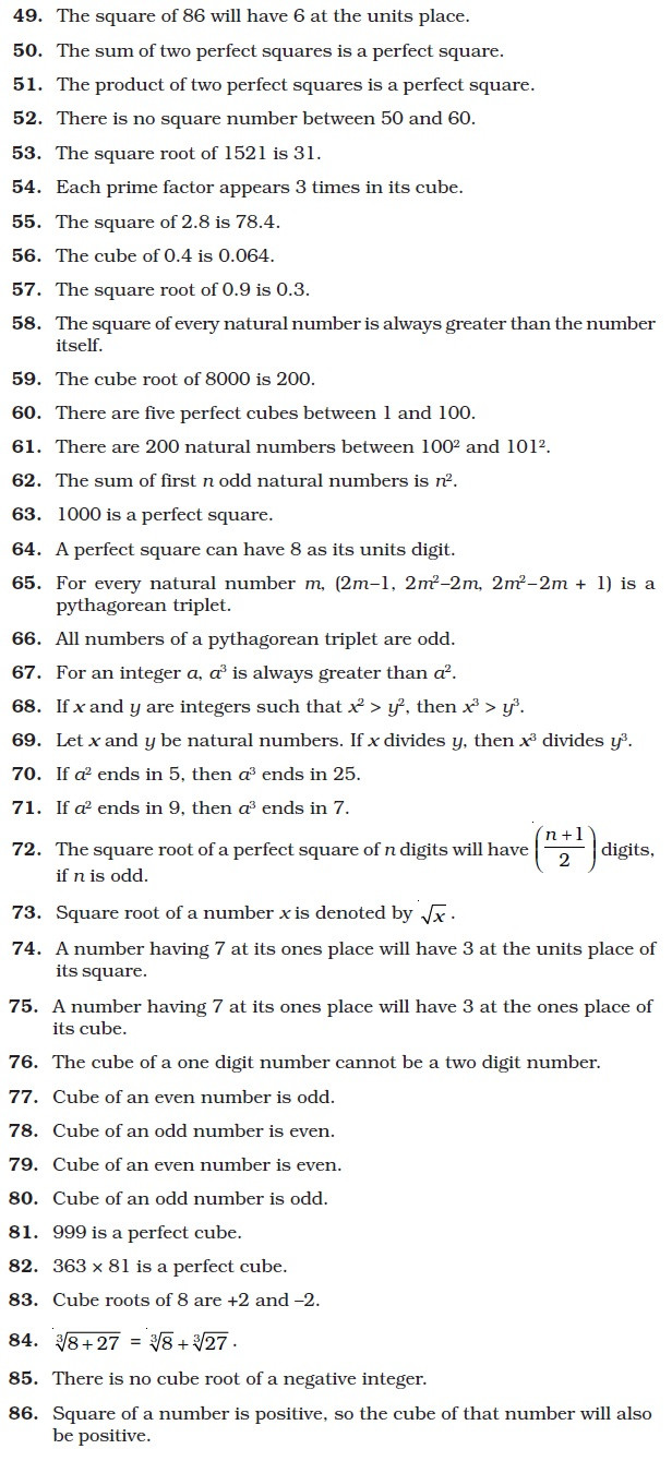 Square Root Worksheets 8th Grade Class 8 Important Questions for Maths – Square Square Root
