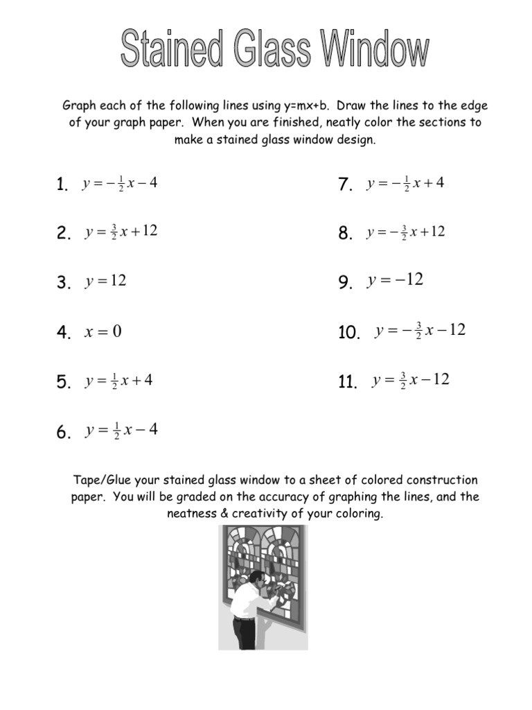 Stained Glass Blueprints Math Worksheet 35 Stained Glass Window Math Worksheet Answers Worksheet