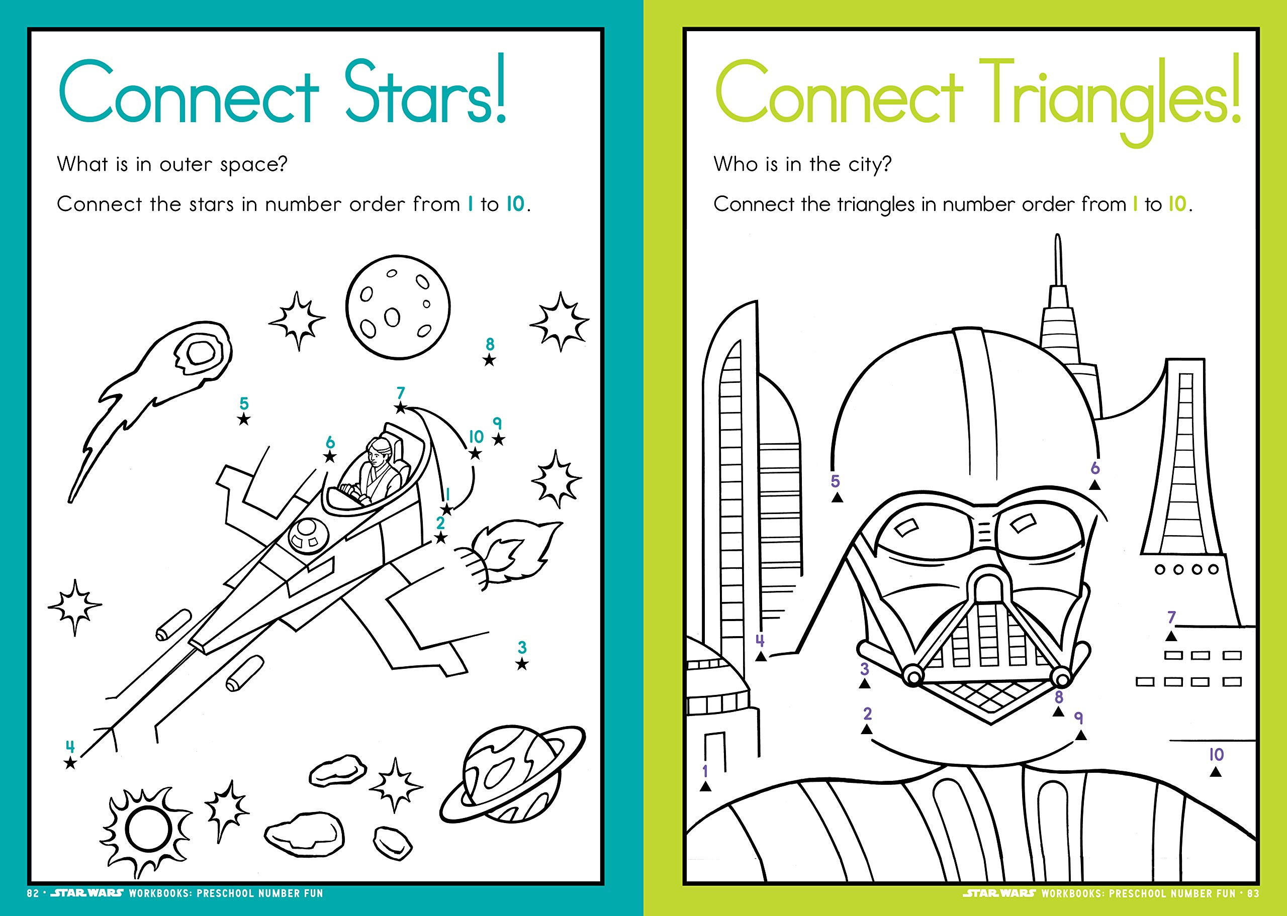 Star Wars Math Worksheets Star Wars Workbook Preschool Number Fun Star Wars