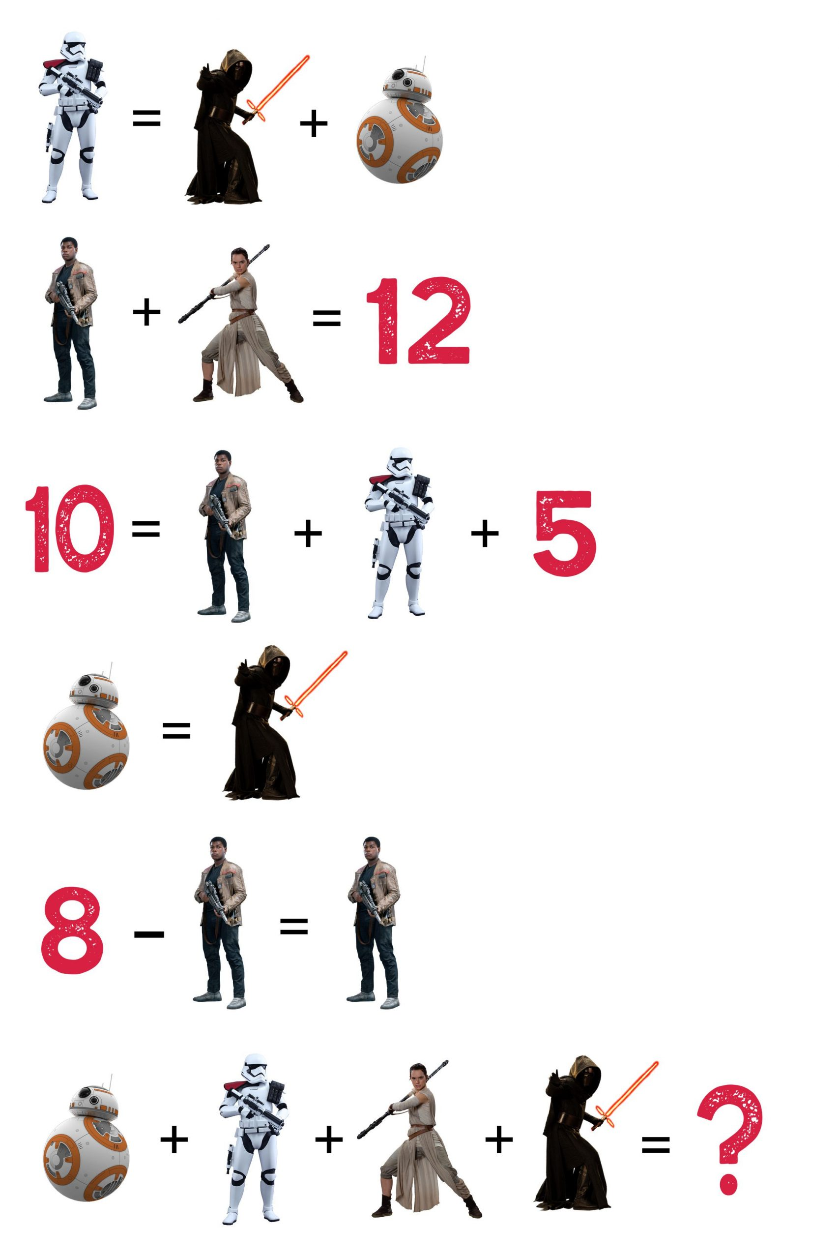 Star Wars Maths Worksheets Lastjedi