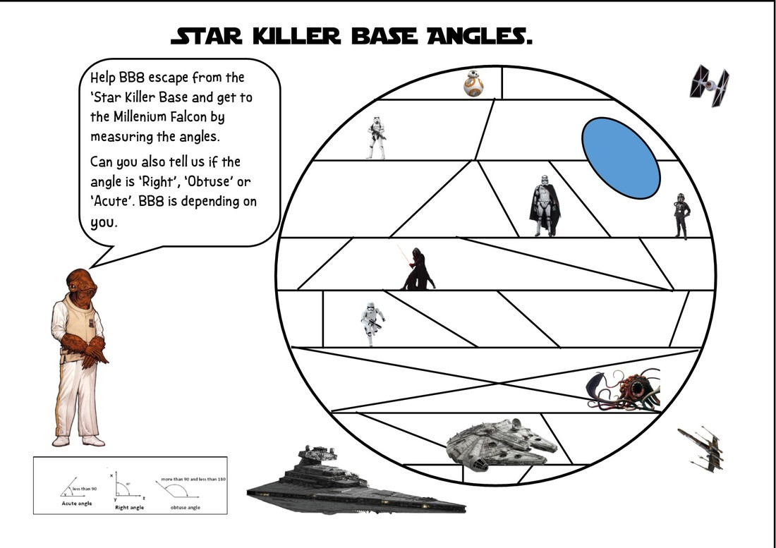Star Wars Maths Worksheets Maths Geometry Shed the Mathematics Shed